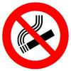divieto di fumo-forma-rotonda
